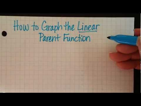 How to Graph the Linear Parent Function