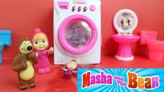 Download Maşa ve Koca Ayı Çamaşır Yıkıyorlar Oyuncak Çamaşır Makinesi - Maşa Türkçe Çizgi Film Video