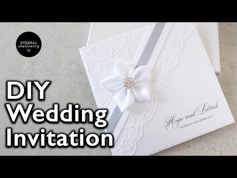 How to make an elegant lace invitation | DIY wedding invitations