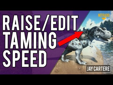 How To Raise Taming Speed On Your ARK Server - How To Edit Taming Rates - ARK PS4 Server Tutorial