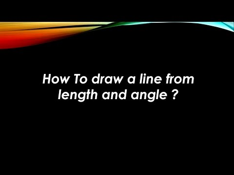 How To draw a line from length and angle ? AutoCAD Tips