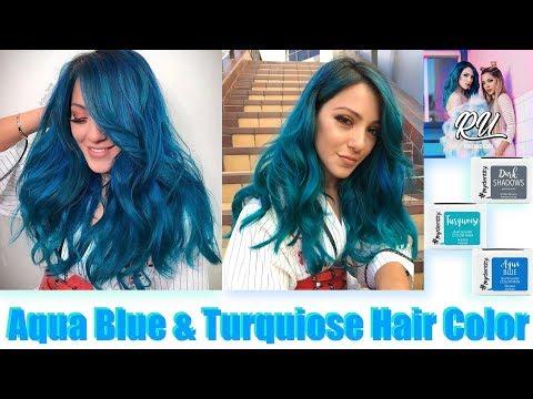 Aqua Blue & Turquoise Hair Color