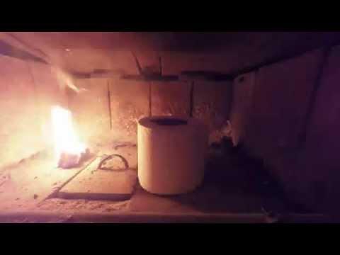 Burning toilet paper Time Lapse