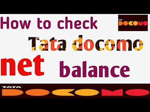 How to check tata docomo net balance