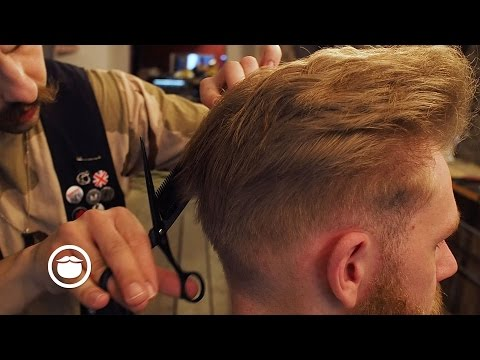 High Volume Pompadour with Skin Fade | Cut and Grind