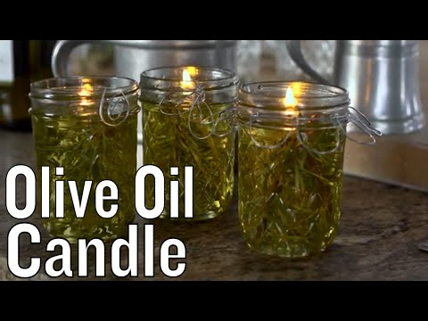 How to Make an Olive Oil Candle