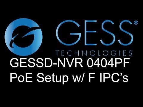 Program GESS Technologies F-Series NVR w/ F-Series IP Cameras