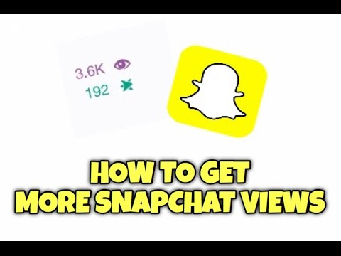HOW TO GET MORE SNAPCHAT VIEWS | Easiest Way