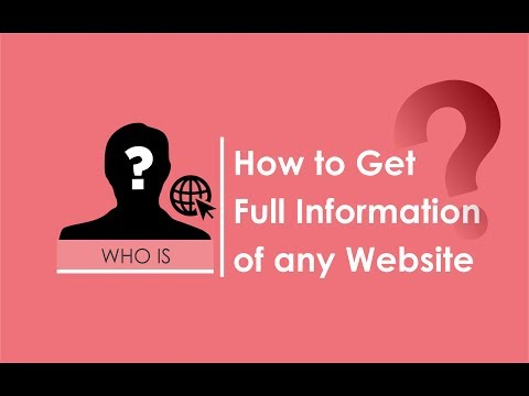 How to Get Full Information of any Website