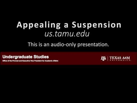 Appealing a Suspension audio