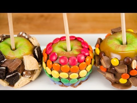 Gourmet Caramel Apples with Homemade Caramel from Cookies Cupcakes and Cardio