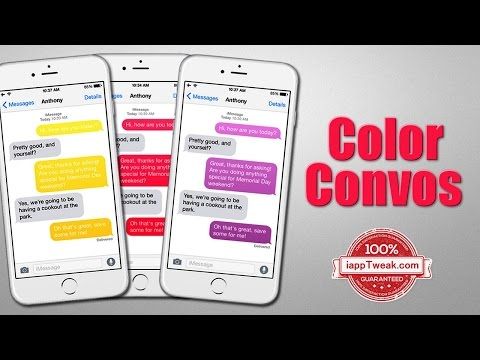 Color Convos : Quickly Assign Different Colors To The Message Bubbles in  Messages App Conversation