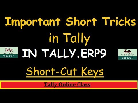 Important Short Tricks In Tally