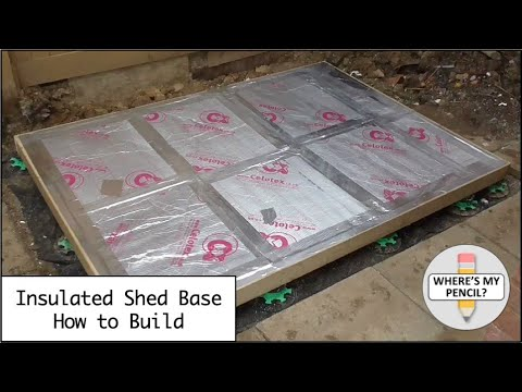 Insulated Shed Base - How to build