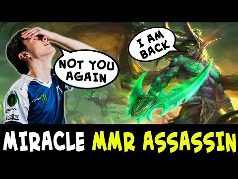Miracle personal MMR ASSASSIN Illidan — counterpick Comeback