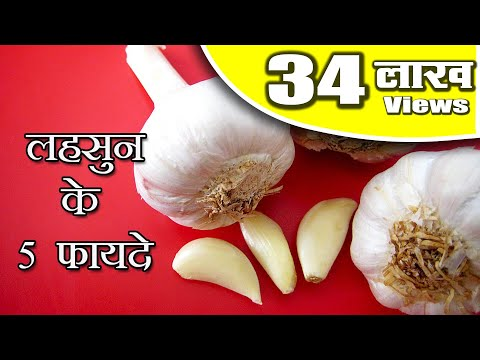 5 Health Benefits of Garlic in Hindi - लहसुन के 5 लाभ by Sonia Health Video 52