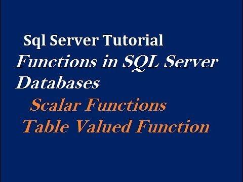 Functions in SQL Server Databases