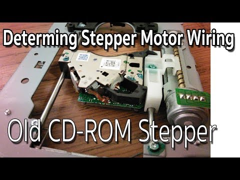 Easy way to Identify The Wires old CD-ROM Stepper motor