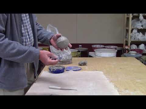 clay animal head construction
