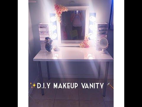 D.I.Y Makeup Vanity ( BUDGET FRIENDLY)   Monica Ferraro
