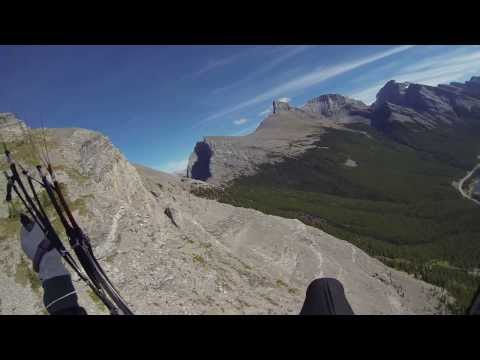 Soaring up a cliff face - Paragliding in Canada