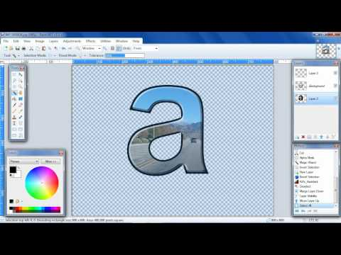 Paint.NET tutorial Image in Text