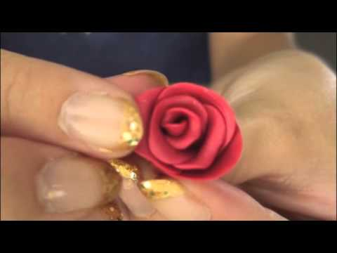 ROSE - Polymer Clay Charm - How To | SoCraftastic