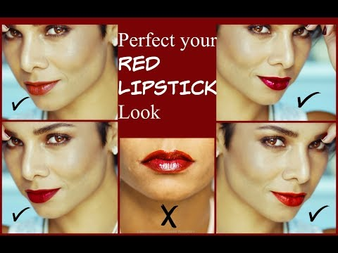 How to wear RED lipstick/ PERFECT RED LIPS makeup up tutorial