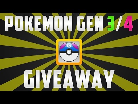Pokemon Gen 3/4 Pokemon Files Giveaway