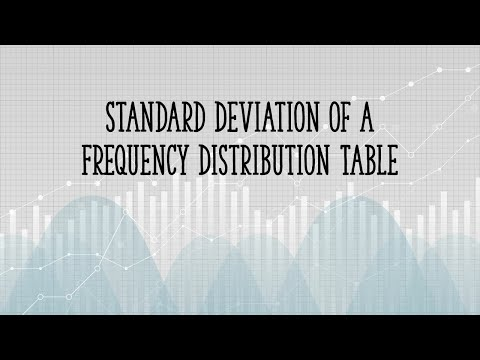 Standard Deviation of a Frequency Distribution Table