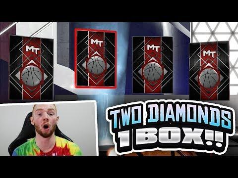EVOLUTION PROMO PACK OPENING! 2 DIAMOND PULLS IN 1 BOX!! (NBA 2K18 MYTEAM)