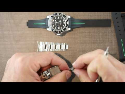 Replace Rolex GMT II Ceramic OEM Band with Rubber B Strap