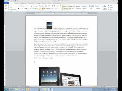 MS Word Lesson 3 Text Basics.wmv