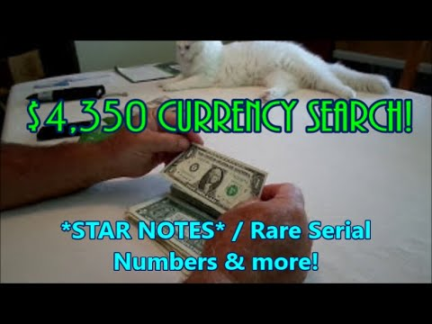 $4,350 US Currency Check STAR NOTES & Rare Serial Numbers! Diggin' w/ Rob!