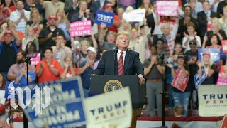 Trump holds a rally in Ohio
