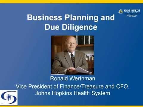 Johns Hopkins Hospital Business Planning and Due Diligence Webinar