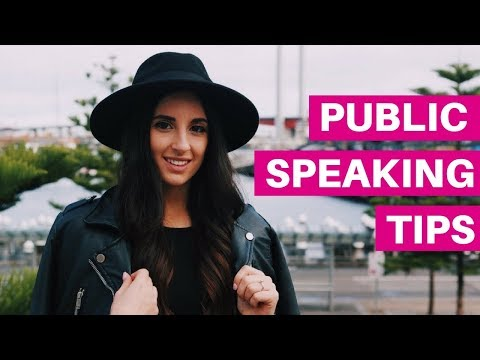 PUBLIC SPEAKING TIPS | For Events, Facebook Lives and Webinars