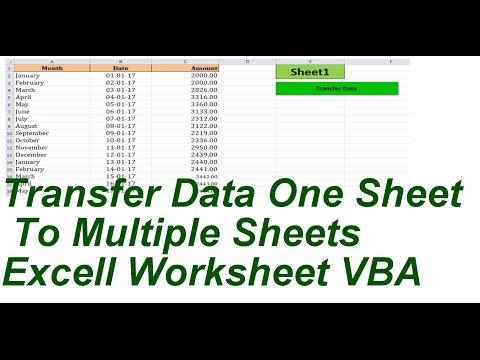 Transfer Data One Sheet TO Multiple Sheets Excell VBA