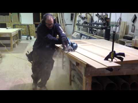How to Cut a Door Edge Stile with Circular Saw and Easy Jig