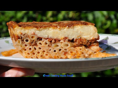 How to make Pastitsio - Greek Baked Pasta by yiayia Polymnia