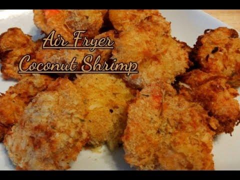Easy Air Fryer Coconut Shrimp Recipe / HOW TO MAKE AIR FRIED COCONUT SHRIMP/ Kiwanna's Kitchen