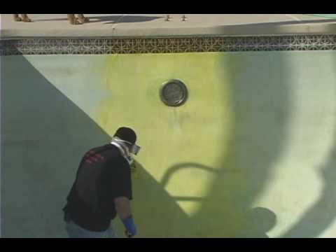 How To Paint & Acid Wash A Swimming Pool - Part 1 -Acid Wash