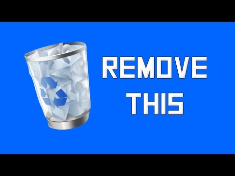 How To Remove Recycling Bin From Desktop Win 8/7 Fast And Easy