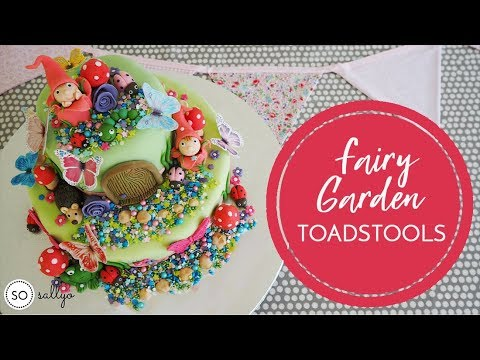 CHILDREN'S BIRTHDAY CAKE IDEAS | Fairy Garden Toadstools Part 3