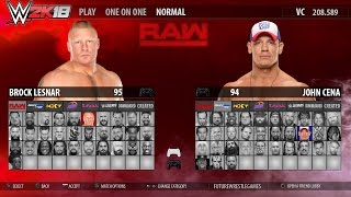 WWE 2K18 - FULL ROSTER GAMEPLAY (RAW,SmackDown,NXT,205,Divas,Legends) [Concept]