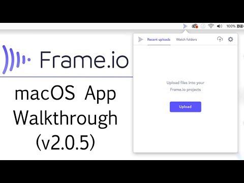 Frame.io macOS App Walkthrough (v2.0.5)