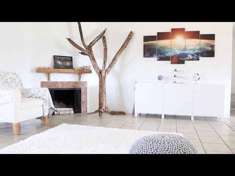 Living Room Decor | IKEA Storage | Potted Plants