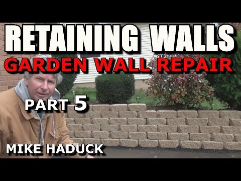 How I build a small stone wall (part 5 of 6) Mike Haduck