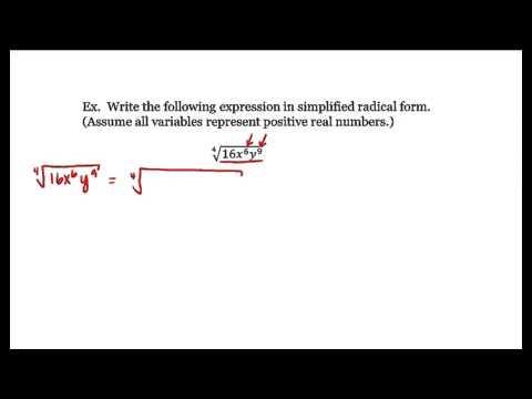 1. 12   Simplified Radical Form