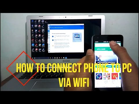 How to connect phone to PC | No USB | Wireless Connect | Wifi Connect